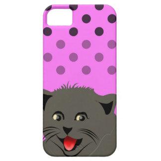 Cat_polka dot_baby Girl_pink_desing iPhone 5 Schutzhüllen