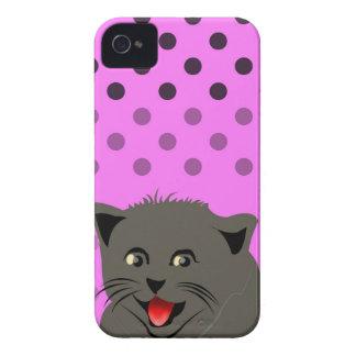 Cat_polka dot_baby Girl_pink_desing iPhone 4 Case-Mate Hüllen