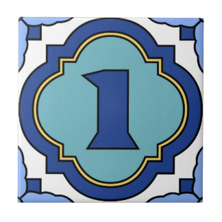 Catalina-Insel-Zahl-Adressen-Fliese 1 Keramikfliese