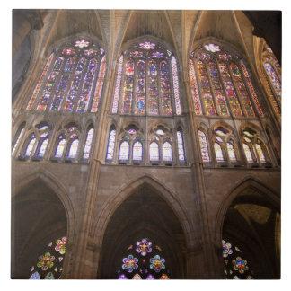 Catedral De Leon, InnenBuntglasfenster 2 Keramikfliese