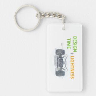 CATERHAMsuperschlüsselring SIEBEN Einseitiger Rechteckiger Acryl Schlüsselanhänger
