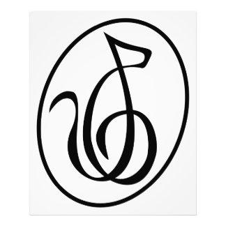 Catgut reiht Kunst-Dekodreifacher Clef-Logo-Wand a Fotodrucke