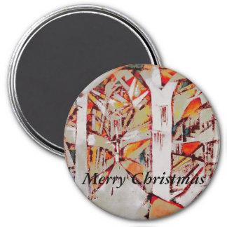 Cathédrale de Noël Magnets