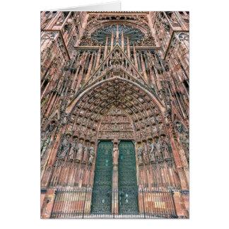 Cathedrale Notre-Dame, Straßburg, Frankreich Grußkarte