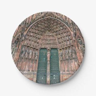 Cathedrale Notre-Dame, Straßburg, Frankreich Pappteller 17,8 Cm