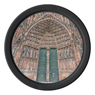 Cathedrale Notre-Dame, Straßburg, Frankreich Poker Chip Set