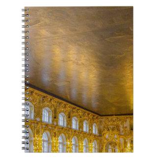 Catherine großer Palast Tsarskoye Selo Ball-Raum Spiral Notizblock