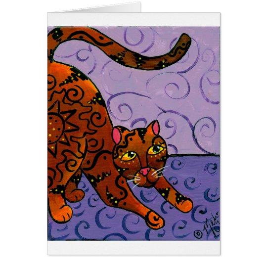 CatRisingSun Grußkarte