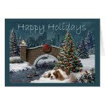 Cavelier Königcharles Spaniel-WeihnachtsAbend GR Grußkarte