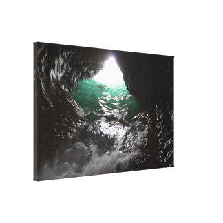 Caverne étirée de mer d'impression de toile toile tendue sur châssis
