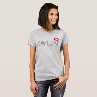 #cawfeetawk grauer T - Shirt (mit den Lippen)