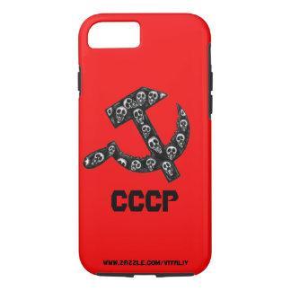 CCCP UDSSR Sichel und Hammer schwärzen den Stift iPhone 8/7 Hülle