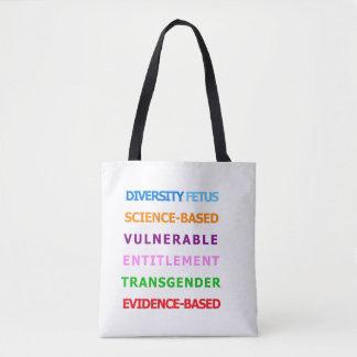 CDC verbotene Wörter - bunte Tasche