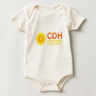 CDH Sonnenblume Sonntag Baby Strampler