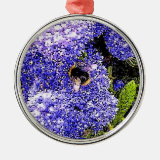 Ceanothus Blumen-Bienen-Foto Silbernes Ornament