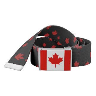 Ceinture canadienne de feuille d'érable rouge de