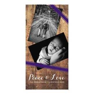 Ceintures pourpres en bois de photo de Noël de Photocartes Personnalisées
