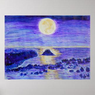 Célébration de clair de lune d'impression de toile poster