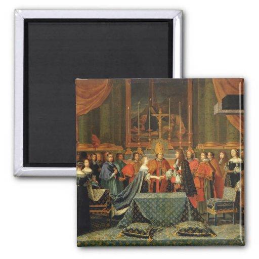 Célébration du mariage de Louis XIV Aimants Pour Réfrigérateur