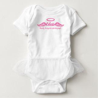Celeste Mädchen Name u. Bedeutungsengel wings Rosa Baby Strampler