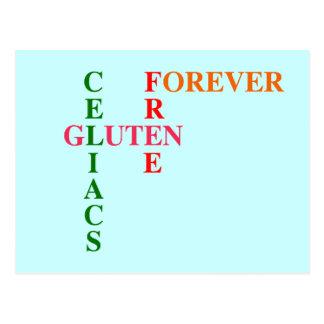 Celiacs Gluten frei für immer Postkarten