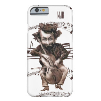 Cello hackt | Vintages Muscian mit Monogramm | Barely There iPhone 6 Hülle
