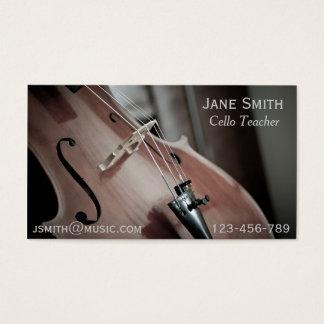 Cello-Lehrer-Schnurinstrument-Musiktutor Visitenkarte