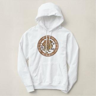 Celtic Gryphon Bestickter Hoodie