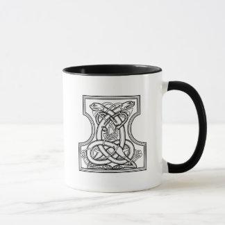 Celtic pattern - black and white tasse