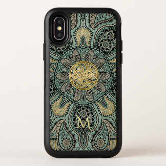 Celtic Triskele Mandala-Monogramm Otterbox X Fall OtterBox Symmetry iPhone X Hülle
