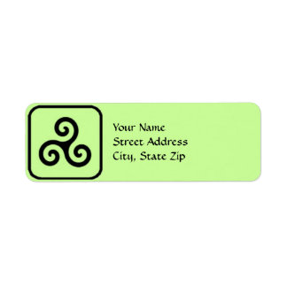 Celtic Triskele Symbol-Adressen-Etiketten