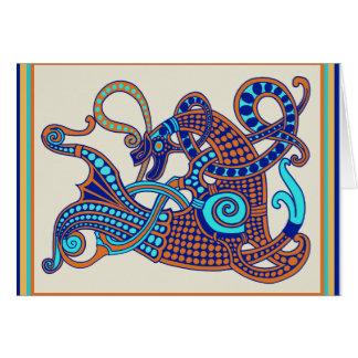 Celtic-Viking-Pferdegruß-Karte Karte