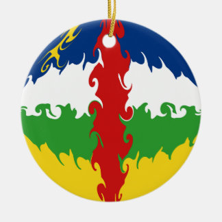 Centrafrique Gnarly Flagge Rundes Keramik Ornament