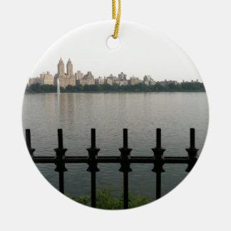 Central Park-Reservoir NYC New York City Manhattan Rundes Keramik Ornament