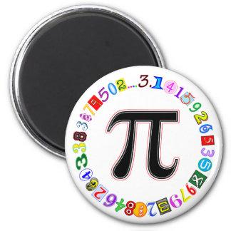 Cercle coloré et d'amusement de pi calculé magnets pour réfrigérateur