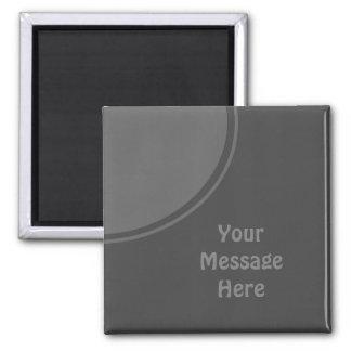 Cercle gris-foncé de mod magnet carré