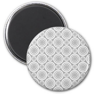 Cercles géométriques élégants modernes gris et magnets pour réfrigérateur