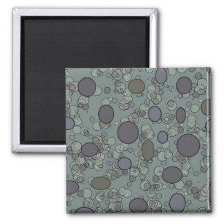 Cercles gris magnet carré