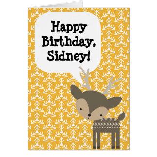 Cerfs communs de carte d'anniversaire des enfants