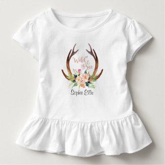 Cerfs communs sauvages et libres Antler T-shirt Pour Les Tous Petits