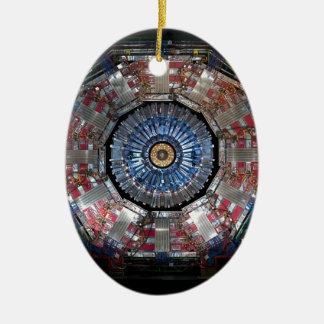 CERN Shiva LHC Ovales Keramik Ornament