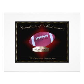 Certificat du football de l accomplissement tract customisé