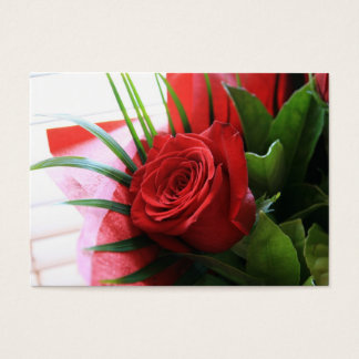 Certificat-prime de fleuriste de rose rouge cartes de visite