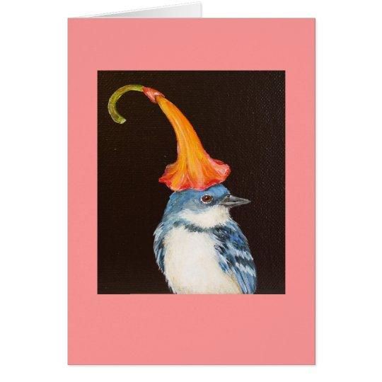 Cerulean Trällerer mit Trompete-Blumenkarte Karte