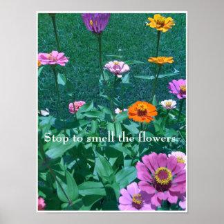Cessez de sentir les fleurs poster