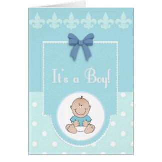 C'est carte de bébé de félicitations de garçon une