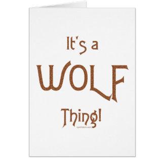 C'est une chose de loup ! carte de vœux
