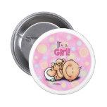 C'est une fille - félicitations de bébé ! bouton pin's