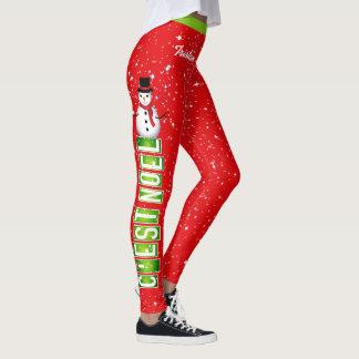 C'EST WEIHNACHTEN/Snowman-Weihnachten (Ihr Name) Leggings