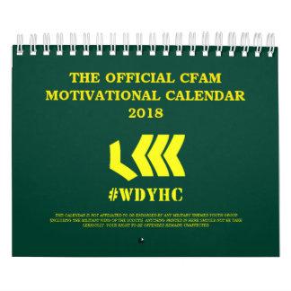 CFAM motivierend Kalender 2018